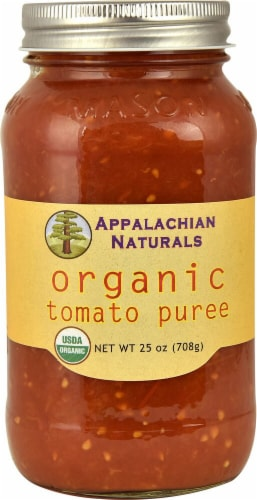 Appalachian Naturals Organic Tomato Puree Perspective: front