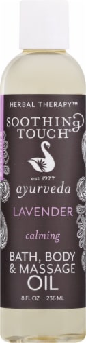 Soothing Touch Ayurveda Lavender Calming Bath Body & Massage Oil Perspective: front