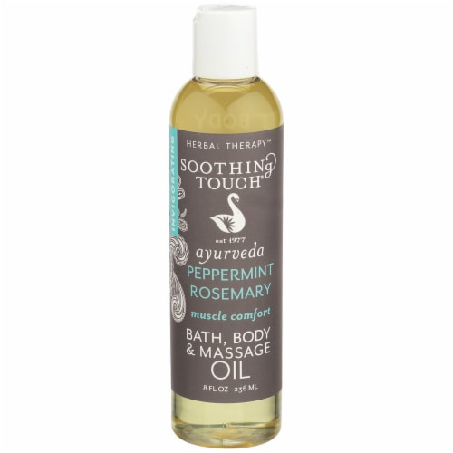 Soothing Touch  Ayurveda - Peppermint Rosemary - Muscle Comfort - Bath and Body Oil Perspective: front
