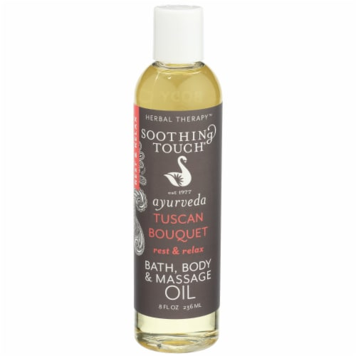 Soothing Touch Rest and Relax Bath Body and Massage Oil Perspective: front
