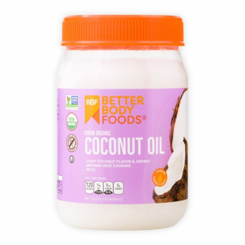 Better Body Foods  Organic Virgin Coconut Oil Perspective: front