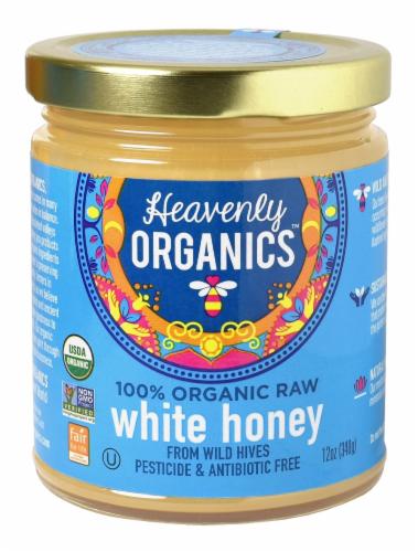 Heavenly Organics Raw White Honey Perspective: front