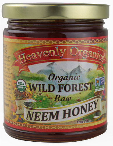 Heavenly Organics Raw Wild Forest Neem Honey Perspective: front