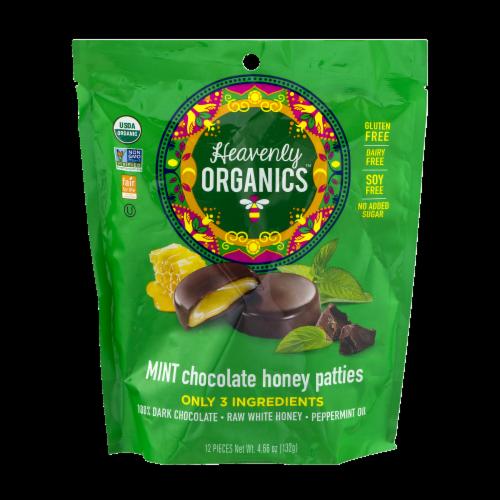 Heavenly Organics Mint Chocolate Honey Patties Perspective: front