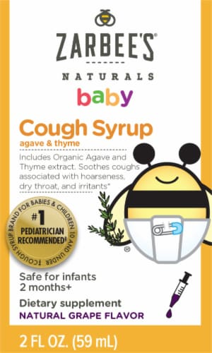 Zarbee's Naturals Grape Baby Cough Syrup Perspective: front