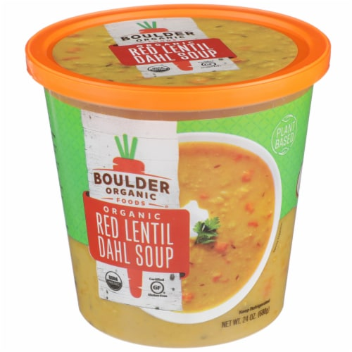 Boulder Organic Lentil Red Dahl Soup Perspective: front