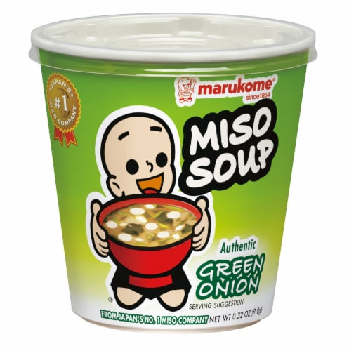 Marukome Green Onion Miso Soup Perspective: front
