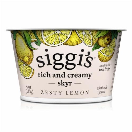 siggi's Lemon Skyr Icelandic-Style Strained Triple Cream Yogurt Perspective: front