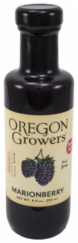 Oregon Growers & Shippers Marionberry Fruit Syrup Perspective: front