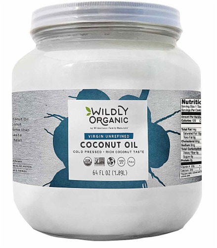 Wildly Organic  Virgin Unrefined Coconut Oil Perspective: front