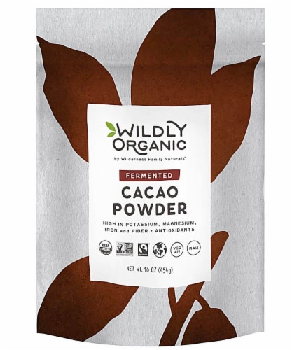 Wildly Organic  Fermented Cacao Powder Perspective: front