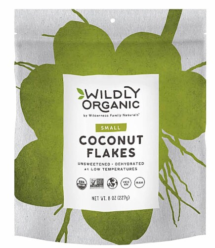 Wildly Organic  Small Coconut Flakes Perspective: front