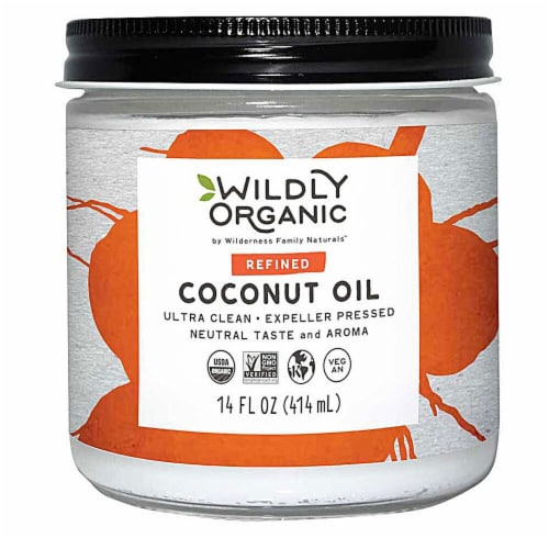 Wildly Organic  Refined Coconut Oil Perspective: front