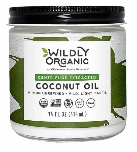 Wildly Organic  Centrifuge Extracted Coconut Oil Perspective: front
