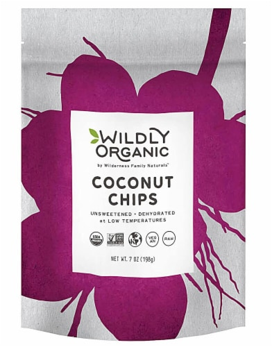 Wildly Organic  Coconut Chips Perspective: front