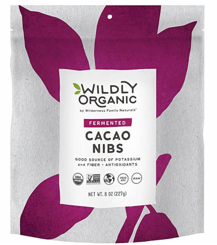 Wildly Organic  Fermented Cacao Nibs Perspective: front