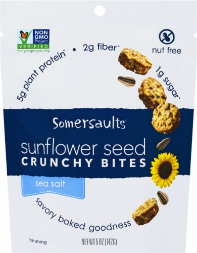 Somersaults Pacific Sea Salt Crunchy Sunflower Seed Nuggets Perspective: front