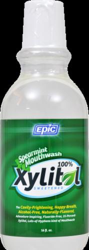 Epic Dental Dental Xylitol Mouthwash Spearmint Perspective: front