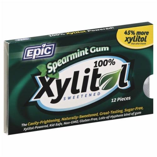 Epic Dental Xylitol Spearmint Gum Perspective: front