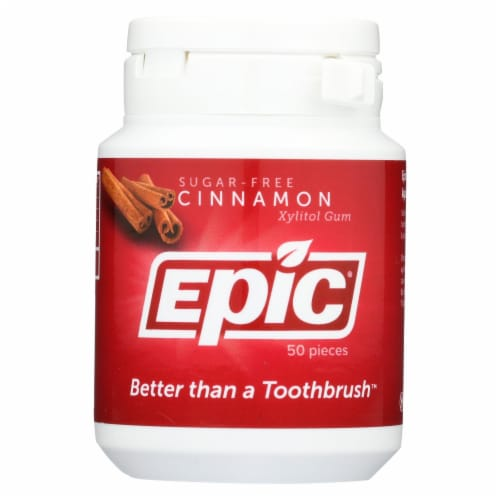Epic Dental Xylitol Cinnamon Gum Perspective: front