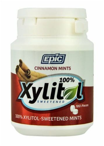 Epic Dental  Xylitol Sweetened Mints   Cinnamon Perspective: front