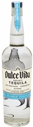 Dulce Vida Organic Blanco Tequila Perspective: front