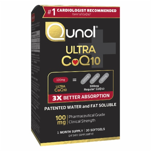 Qunol Ultra Coq10 Softgels 100 mg 30 Count Perspective: front