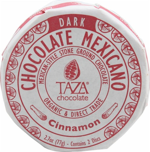 Taza Chocolate Organic Cinnamon Chocolate Mexicano Discs Candy Perspective: front