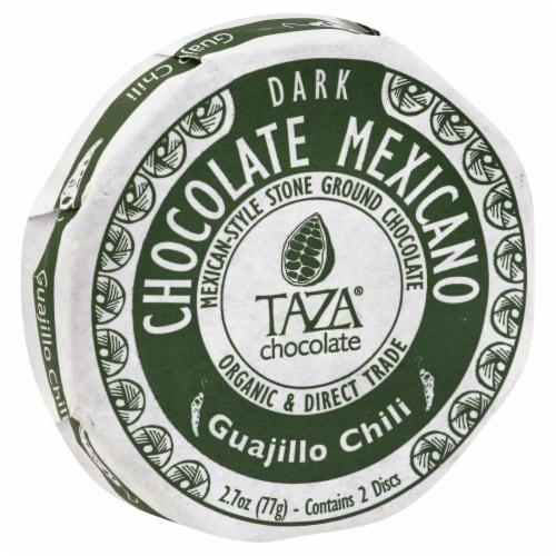 Taza Chocolate Guajillo Chili Dark Chocolate Mexicano Discs Perspective: front