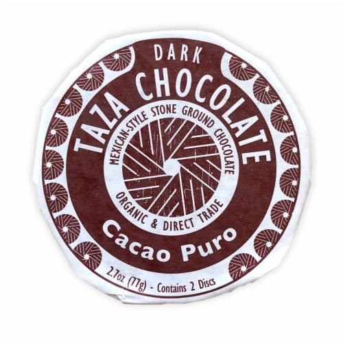 Taza Chocolate Organic Chocolate Cacao Puro Chocolate Mexicano Discs Perspective: front