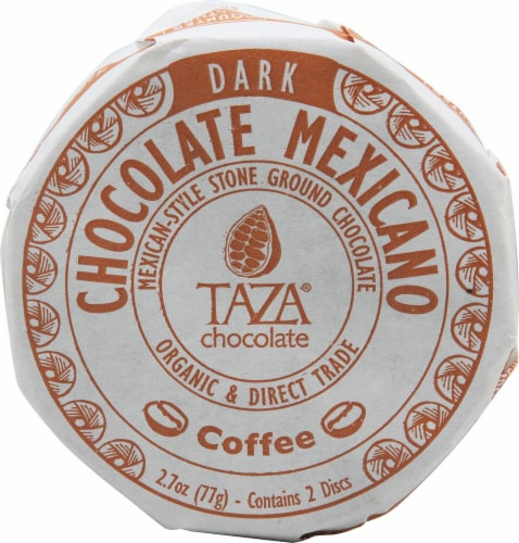Taza Chocolate Coffee Dark Chocolate Mexicano Discs Perspective: front