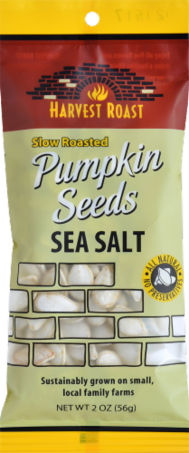 Harvest Roast Slow Roasted Pumpkin Seeds Sea Salt Perspective: front