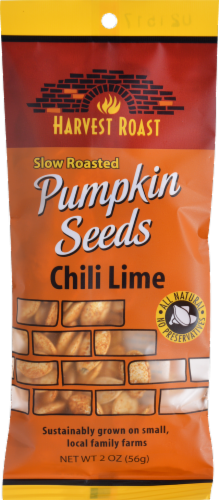 Harvest Roast Slow Roasted Pumpkin Seeds Chili Lime Perspective: front