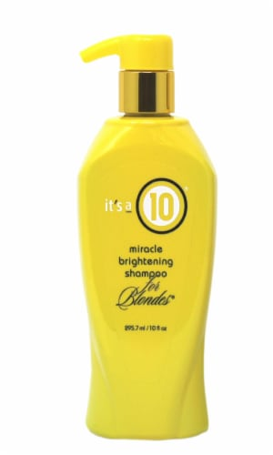 It's a 10 Miracle Brightening Shampoo for Blondes Perspective: front