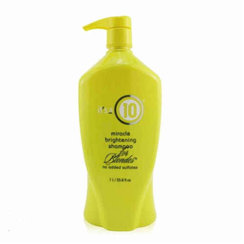 """""""""""It's A 10 Miracle Brightening Shampoo (For Blondes) 1000ml/33.8oz"""""""" Perspective: front"""