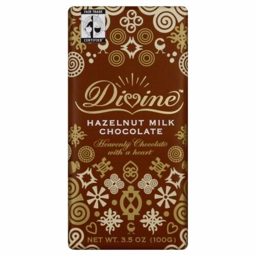 Divine Hazelnut Milk Chocolate Bar Perspective: front