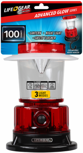 Life Gear Glow Lantern - Clear/Red/Black Perspective: front