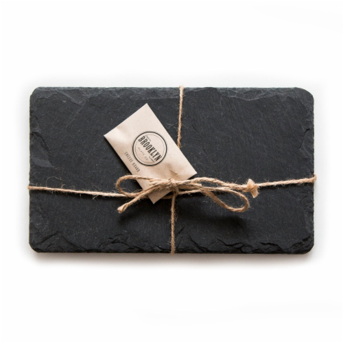 Brooklyn Slate Black Cheese Board Perspective: front