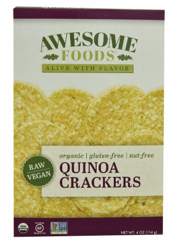 Awesome Foods  Organic Quinoa Crackers Perspective: front