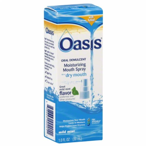 Oasis  Moisturizing Mouth Spray for Dry Mouth Mild Mint Perspective: front