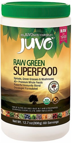 Juvo  Organic Raw Green Superfood Perspective: front