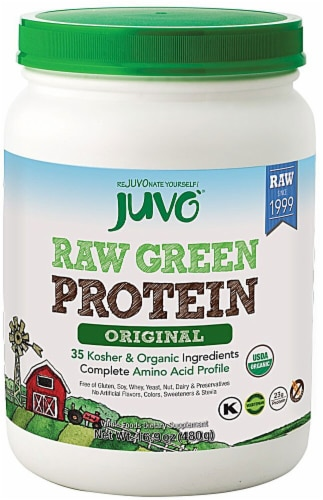 Juvo  Raw Green Protein   Original Perspective: front