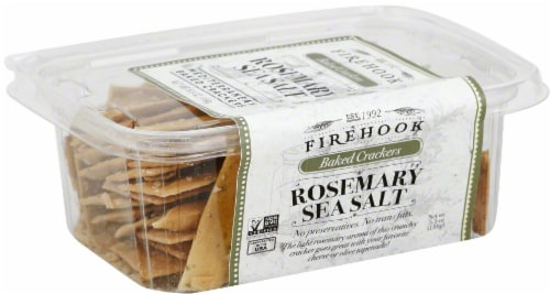 Firehook Rosemary Sea Salt Baked Crackers Perspective: front
