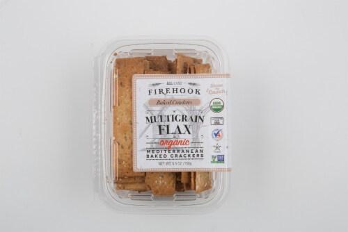 Firehook Multigrain Flax Mediterranean Baked Crackers Perspective: front