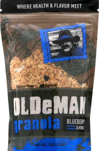 Olde Man Blueberry Almond Granola Perspective: front