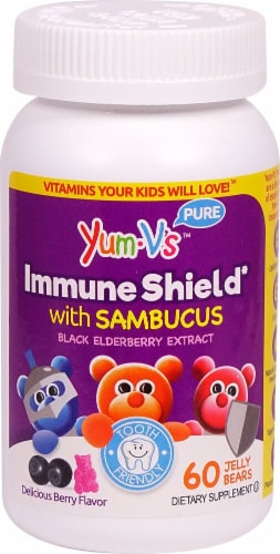 Yum V's  Immune Shield with Sambucus   Berry Perspective: front