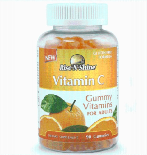 Rise-N-Shine Vitamin C Adult Gummy Vitamins-90 Count Perspective: front
