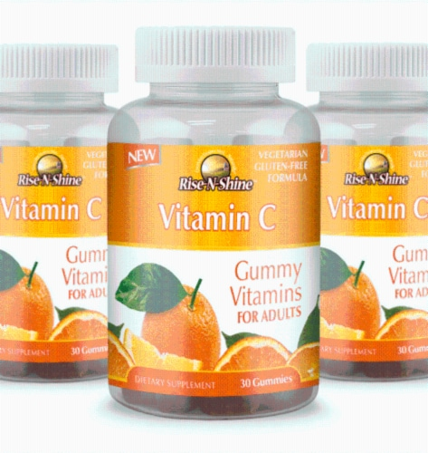 Rise-N-Shine Vitamin C Gummy Vitamins-30Count Perspective: front