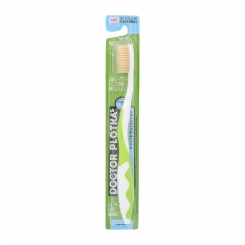 Mouthwatchers A/B Adult Green Toothbrush Perspective: front