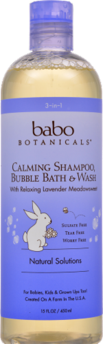 Babo Botanicals Calming Shampoo Bubble Bath & Wash Perspective: front